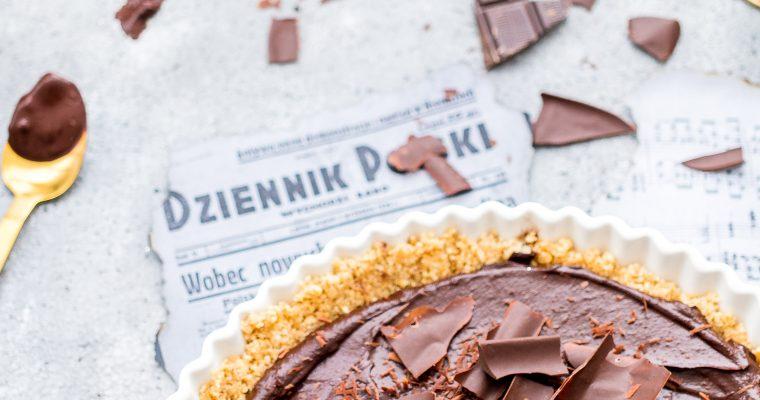 PRAWIE… wegańska tarta z musem czekoladowym